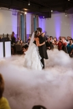"Dancing On The Clouds! - As you start your first dance as husband and wife, your dance floor is transformed as if you are dancing on the clouds.  The clouds rise only 12"" from the floor, so you will still be the center of attention.  The white, fluffy chilled air gives the illusion that you are actually dancing on the clouds!  It is the 'wow' factor that will have your guests scrambling for their cameras."