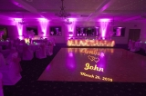 Uplighting and Personalized Monogram.
