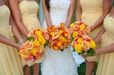 Calla lily and rose bouquet
