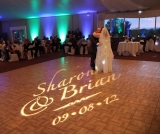 Gobo Name Projection & Up Lighting