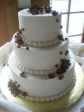 Buttercream wedding cake with fondant flowers