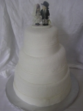 Fondant Cake - 3 tier stacked fondant cake