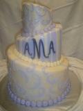 Topsy Turvy Fondant Wedding Cake