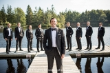 Groomsmen on Dock