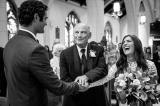 Priceless moment with the father of the bride