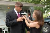 At Work - Meriah assisting wedding party